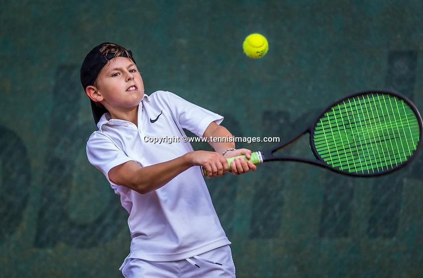 Hilversum, Netherlands, August 9, 2017, National Junior Championships, NJK, James Pikkaart<br /> Photo: Tennisimages/Henk Koster
