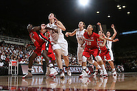 STANFORD, CA - NOVEMBER 23:  Sarah Boothe of the Stanford Cardinal during Stanford's 81-47 win over Rutgers on November 23, 2008 at Maples Pavilion in Stanford, California.