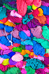 A pile of colorful yarn at a woman's cooperative in Zunil, Guatemala, in the Western Highlands