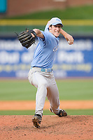 Relief pitcher Brian Moran #46 of the North Carolina Tar Heels in action versus the Clemson Tigers at Durham Bulls Athletic Park May 23, 2009 in Durham, North Carolina. The Tigers defeated the Tar Heals 4-3 in 11 innings.  (Photo by Brian Westerholt / Four Seam Images)