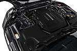 Car stock 2018 Jaguar F-Type Base 2 Door Convertible engine high angle detail view