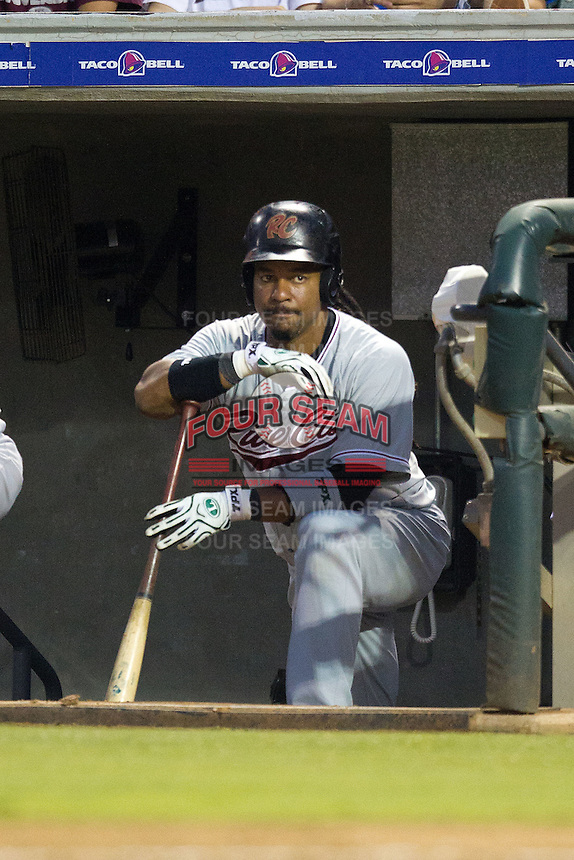 Sacramento River Cats designated hitter Manny Ramirez #11 from the dugout during the Pacific Coast League baseball game against the Round Rock Express on May 22, 2012 at The Dell Diamond in Round Rock, Texas. The Express defeated the River Cats 11-5. (Andrew Woolley/Four Seam Images).