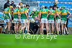 Kerry manager Fintan O'Connor with the Kerry team during the Joe McDonagh Cup Final match between Kerry and Antrim at Croke Park in Dublin.