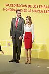 Spain's crown Prince Felipe and Princess Letizia during a ceremony to designate Spain Brand ambassadors. February 12, 2013. (ALTERPHOTOS/Alvaro Hernandez)