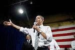 "Tuesday, May 8,  2007. Richmond, VA.. US Presidential candidate and senator Barack Obama, held what was billed as a ""low dollar fundraiser"" at Plant Zero in Richmond, VA, drawing a crowd of 700 supporters."