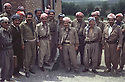 Iran 1980 <br /> In Rajan, Idris and Masoud Barzani with their close followers  <br /> Iran 1980  <br /> Idris et Masoud Barzani a Rajan avec leurs proches partisans