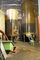 Domaine de Terre Megere, Cournonsec, Montpellier. Gres de Montpellier. Languedoc. Fibreglass vats. Floating top vats. France. Europe.
