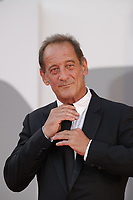"""VENICE, ITALY - SEPTEMBER 10: Vincent Lindon on the red carpet for the movie """"Un Autre Monde"""" during the 78th Venice International Film Festival on September 10, 2021 in Venice, Italy.<br /> CAP/GOL<br /> ©GOL/Capital Pictures"""