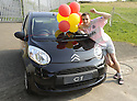 25/04/2009  Copyright Pic: James Stewart.sct_jspa08_partick_v_livingston.PARTICK'S MARC TWADDLE CELEBRATES AT THE END OF THE GAME WITH THE CAR HE WON IN THE HALF TIME DRAW.....James Stewart Photography 19 Carronlea Drive, Falkirk. FK2 8DN      Vat Reg No. 607 6932 25.Telephone      : +44 (0)1324 570291 .Mobile              : +44 (0)7721 416997.E-mail  :  jim@jspa.co.uk.If you require further information then contact Jim Stewart on any of the numbers above.........