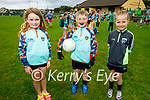 Enjoying their first day at the Kerry GAA Cúl Camps in Connelly Park on Monday morning, l to r: Sarah Broughton, Adam O'Connell and Aoibhinn Brosnan.