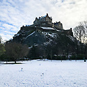 Edinburgh Castle is dusted with snow as Edinburgh gets its first snowfall, in the first Covid Winter. Edinburgh has been placed in Tier 4 restrictions due to the Covid-19 pandemic.
