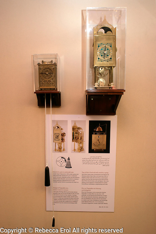 Replica of Taqi al-Din's Clocks at the Museum of the History of Islamic Science and Technology, Istanbul, . One of the various types of chronometer described by the Ottoman scholar Taqi al-Din in his book from 1559