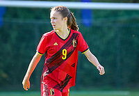 during an international friendly female soccer game between the national teams of Belgium , called the Red Flames U17 and the Netherlands on Wednesday 8th of September 2020  in Kalmthout , Belgium . PHOTO SPORTPIX.BE | SPP | SEVIL OKTEM