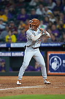 Eric Kennedy (30) of the Texas Longhorns at bat against the LSU Tigers in game three of the 2020 Shriners Hospitals for Children College Classic at Minute Maid Park on February 28, 2020 in Houston, Texas. The Tigers defeated the Longhorns 4-3. (Brian Westerholt/Four Seam Images)