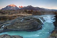 Sunrise in Torres del Paine.