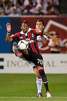 Robinho (70) of A. C. Milan. Real Madrid defeated A. C. Milan 5-1 during a 2012 Herbalife World Football Challenge match at Yankee Stadium in New York, NY, on August 8, 2012.