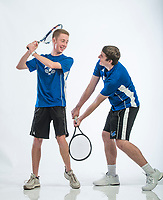 NWA Democrat-Gazette/BEN GOFF @NWABENGOFF<br /> Cooper Gommel (left) and Payne Henry of Rogers, boys tennis doubles team of the year, pose for a photo Thursday, Nov. 29, 2018, at the Northwest Arkansas Democrat-Gazette studio in Springdale.