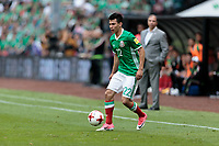 Mexico City, Mexico - Sunday June 11, 2017: Hirving Lozano during a 2018 FIFA World Cup Qualifying Final Round match with both men's national teams of the United States (USA) and Mexico (MEX) playing to a 1-1 draw at Azteca Stadium.