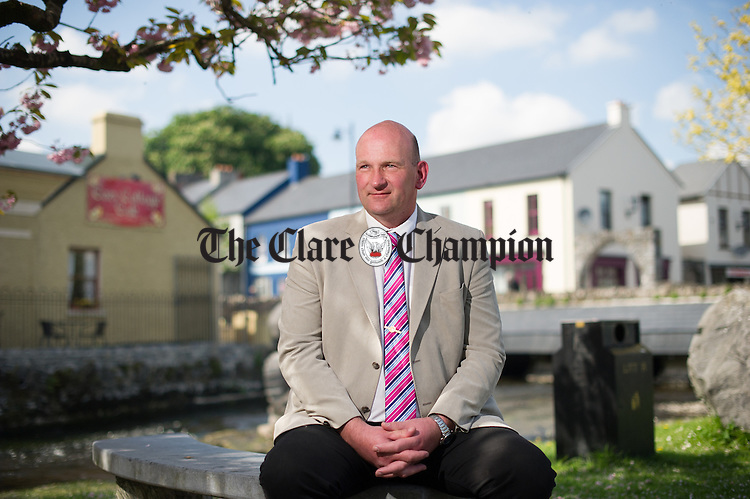 Richard Cahill of Sixmilebridge, who has announced that he is standing for the European Elections. Photograph by John Kelly.