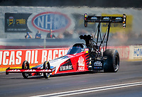 Sep 5, 2020; Clermont, Indiana, United States; NHRA top fuel driver Doug Kalitta during qualifying for the US Nationals at Lucas Oil Raceway. Mandatory Credit: Mark J. Rebilas-USA TODAY Sports