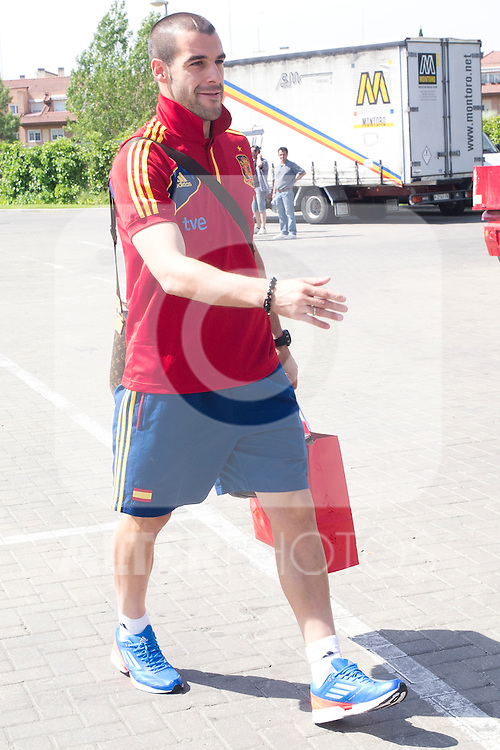 01.06.2012. Arrival of the players in the Spanish football team squad for the European Championship in Poland and Ukraine to the Ciudad del Futbol of Las Rozas, Madrid. In the image Alvaro Negredo.(Alterphotos/Marta Gonzalez)