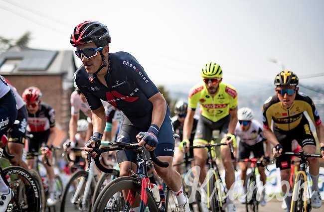 Richard Carapaz (ECU/INEOS Grenadiers) up the infamous Mur de Huy<br /> <br /> 85th La Flèche Wallonne 2021 (1.UWT)<br /> 1 day race from Charleroi to the Mur de Huy (BEL): 194km<br /> <br /> ©kramon