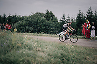 Mike Teunissen (NED/Sunweb) up the first HC climb of the day; the Col de la Biche (10.5km @9%)<br /> <br /> 104th Tour de France 2017<br /> Stage 9 - Nantua › Chambéry (181km)