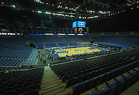 15.01.2014 London, England.  General view of the O2 Arena at the NBA Media Day.  The media event forms part of  NBA Basketball Global Game between Atlanta Hawks v Brooklyn Nets taking place at the O2 Arena London Jan 16th