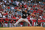 Pitcher John Danks of the White Sox delivers a fastball.
