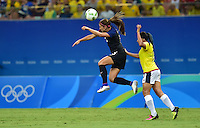 Manaus, Brazil - Tuesday, August 9, 2016: The USWNT and Colombia are all even 1-1 in second half action in Group G play during the 2016 Olympics at Amazonia Arena.