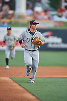 Ty France (25) of the El Paso Chihuahuas during the game against the Salt Lake Bees at Smith's Ballpark on August 13, 2018 in Salt Lake City, Utah. Salt Lake defeated El Paso 4-3. (Stephen Smith/Four Seam Images)