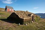 village de Qassiarsuk et ruines viking sur le site de Brattahlid