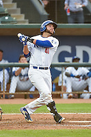 Garrett Kennedy (41) of the Ogden Raptors at bat against the Missoula Osprey in Pioneer League action at Lindquist Field on July 20, 2015 in Ogden, Utah. Missoula defeated Ogden 10-6. (Stephen Smith/Four Seam Images)