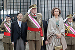 Military Christmas at Madrid Royal Palace. King Juan Carlos and Queen Sofia...Photo: MAC / ALFAQUI