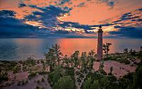 Little Sable Point Lighthouse at Lake Michigan near Silver Lake, Michigan