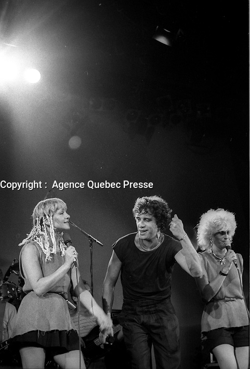 Julien Clerc en spectacle au Quebec vers 1980<br /> <br /> PHOTO :  Agence Quebec Presse