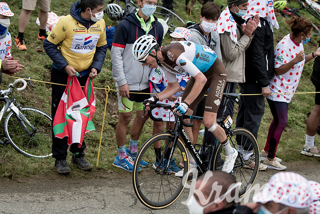 Romain Bardet (FRA/AG2R-La Mondiale) dragging himself up the Col de Marie Blanque (1st Cat)<br /> <br /> Stage 9 from Pau to Laruns (153km)<br /> <br /> 107th Tour de France 2020 (2.UWT)<br /> (the 'postponed edition' held in september)<br /> <br /> ©kramon