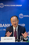 23 July 2014, New Delhi, India: President of the World Bank, Mr Jim Yong Kim addresses a press conference on issues and projects being undertaken by the World Bank during his visit to India and his discussions with Prime Minister Modi. Picture by Graham Crouch/World Bank
