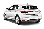 Car pictures of rear three quarter view of a 2017 Renault Megane GT 5 Door Hatchback angular rear