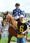 10 March 13: Dr. Zic (no. 6), ridden by Kent Desormeaux and trained by Joan Scott, wins the Johnson's Services Overnight Handicap for fillies and mares four years olds and upward at Tampa Bay Downs in Tampa, Florida.