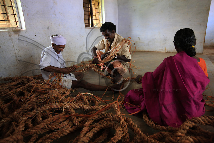 Production of a rope is a significant undertaking, and it takes villagers 25 days of collective work. Ten days to harvest the fiber and fifteen days to make the ladder rope.