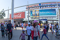 Carson, Calif. - Sunday, February 8, 2015: Fans outside the stadium before the match. The USMNT defeated Panama 2-0 in an international friendly at StubHub Center.