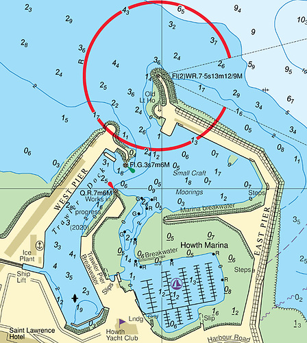 Reduced Depths at the Entrance to Howth Harbour & Marina