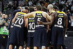 Fenerbahce Istambul's team celebrates the victory in the  Euroleague Quarter-Finals. April 19,2016. (ALTERPHOTOS/Acero)