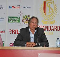 Persconferentie Standard Femina de Liege :  Eric Poskin van sponsor Mithra<br /> foto Joke Vuylsteke / nikonpro.be