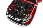 Car Stock 2017 Mitsubishi Outlander GT 5 Door SUV Engine  high angle detail view
