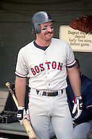 Boston Red Sox third baseman Wade Boggs (26) before a game against the Baltimore Orioles during the 1991 season at Memorial Stadium in Baltimore, Maryland.  (MJA/Four Seam Images)