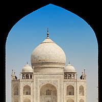 Taj Mahal mausoleum in Agra, India.