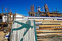 Trabalho de construção civil em Macapá. Amapá. 2003. Foto de Juca Martins.