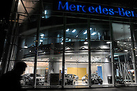 A Mercedes-Benz Show Room in central Shanghai.  Imports of vehicles into China are expected to climb 20 percent to 420,000 units this year..